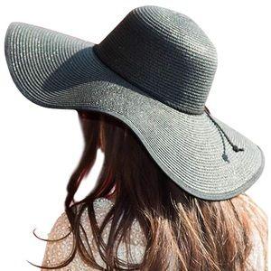 Accessories - Straw Hat Floppy  UV Protection Beach Hat